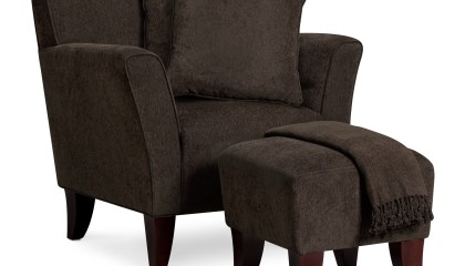 Chair Set with Pillows and Throw