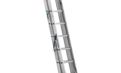 Werner 24 ft. Aluminum 3 Section Compact Extension Ladder 225 lb. Load Capacity Type II Duty Rating
