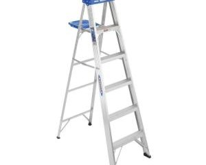 Werner 6 ft. Aluminum Step Ladder with 250 lb. Load Capacity Type I Duty Rating